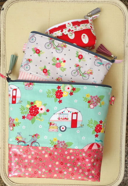 DIY Travel Pouch Tutorial with Vintage Adventure Fabric featured by top US sewing blog, Ameroonie Designs