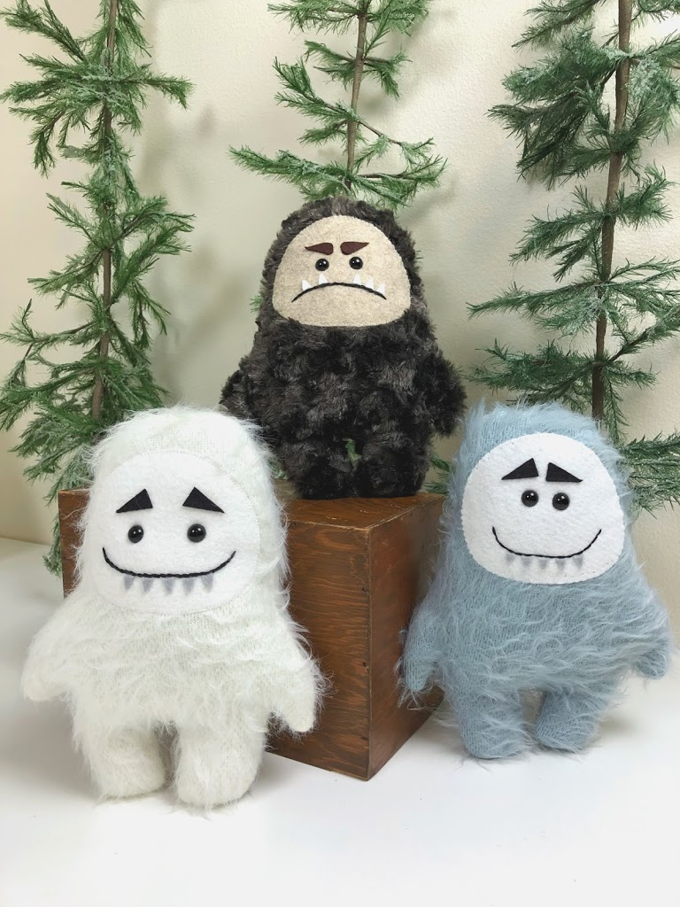 Yeti plush tutorial using the Cricut Maker featured by top US sewing blog, Ameroonie Designs