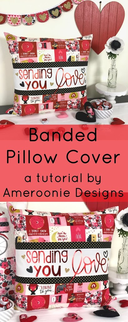 Banded Pillow Cover Pattern featured by top US sewing blog, Ameroonie Designs