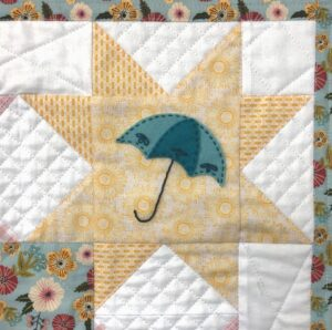 Mini quilt pattern with Sister Prairie fabrics, featured by top US quilting blog, Ameroonie Designs