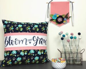 Banded pillow tutorial with Senerade Fabric featured by top US sewing blog, Ameroonie Designs.