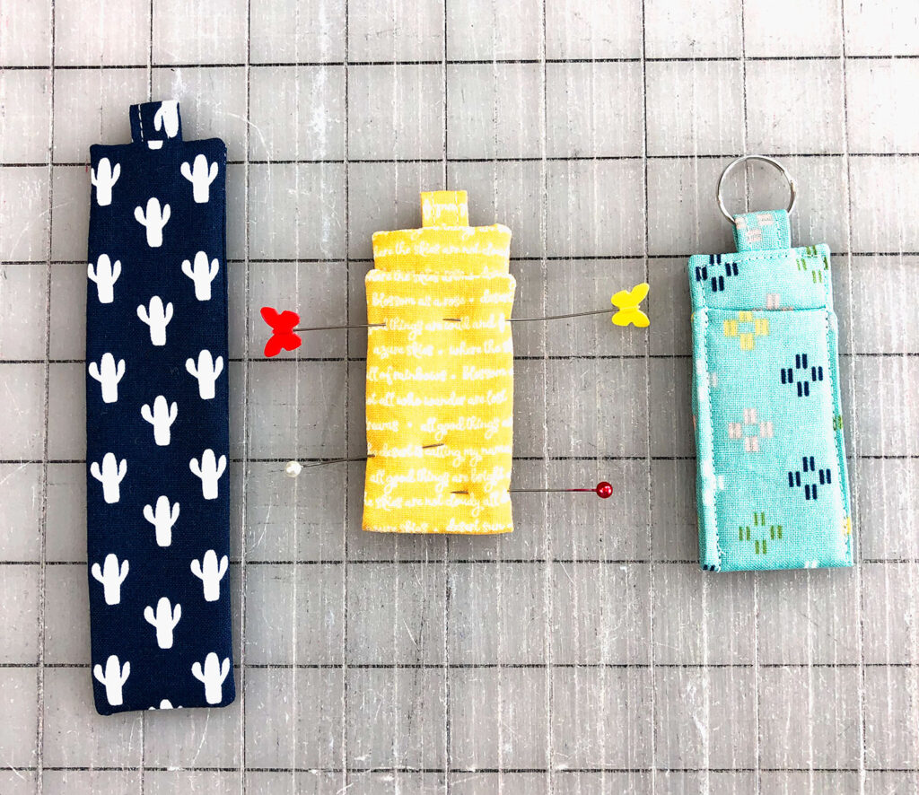 Create a keychain with a chapstick holder