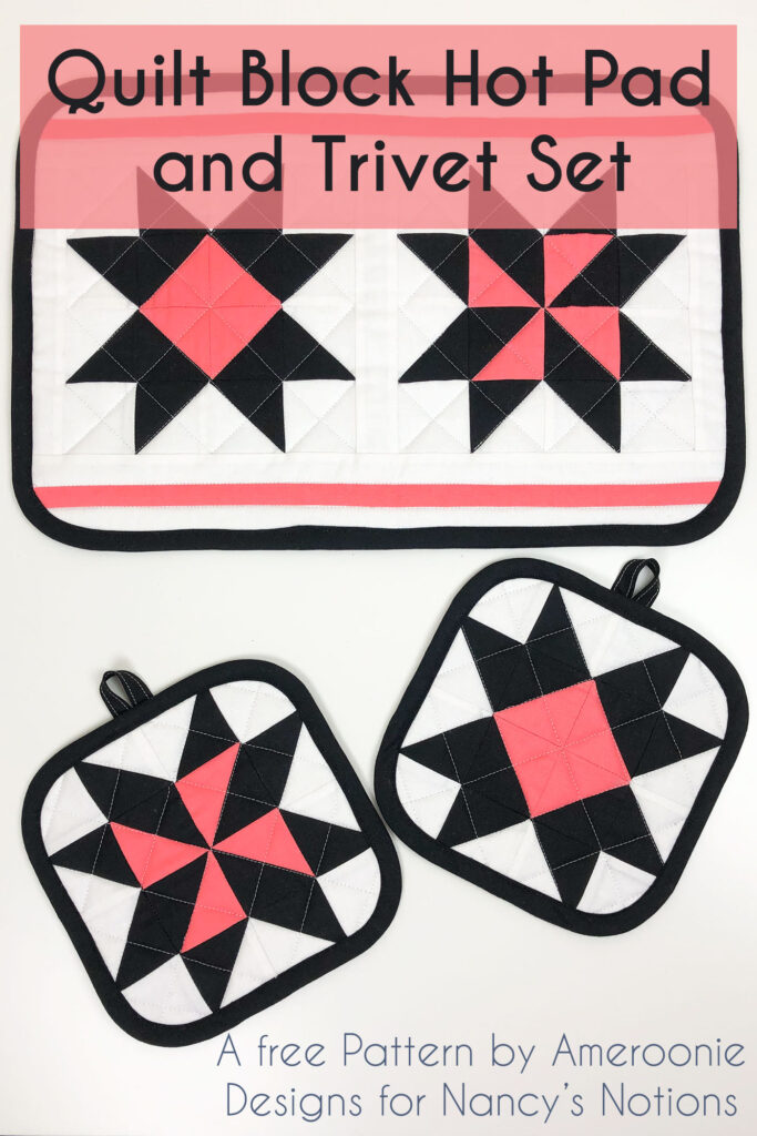 Quilt Block Hot Pad And Trivet Set Ameroonie Designs
