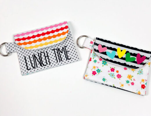 Personalized lunch money pouches make lunch time fun.