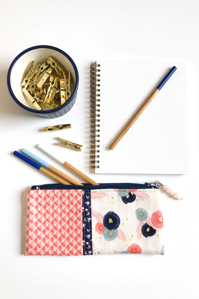 Pencil Pouch holds full length pencils for using with sketchbooks.