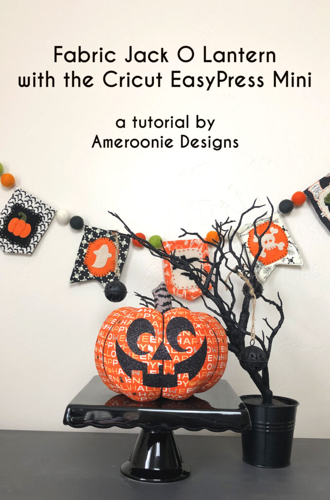 Make a Jack O lantern with the Cricut EasyPress mini.
