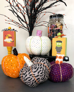 Sew Fabric pumpkins for Halloween