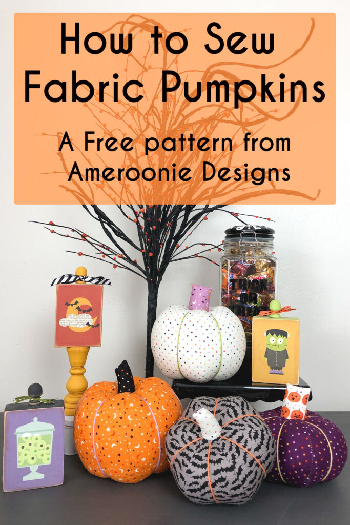 How To Sew Fabric Pumpkins Ameroonie Designs