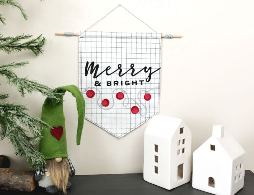 Merry and Bright Christmas Banner