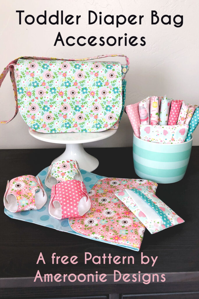 Sew a set of diaper bag accessories for your little toddler with this free pattern.