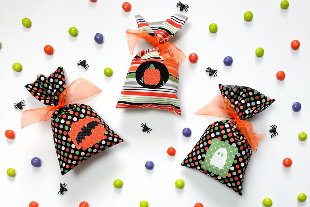 Use fabric to sew up Simple Fabric Treat Bags