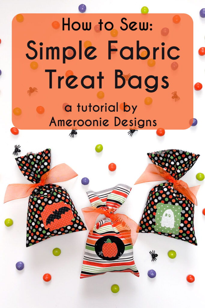 How to sew simple treat bags.