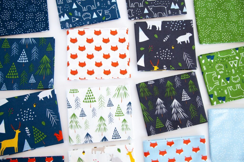 fabric prints from In The Forest fabric line.