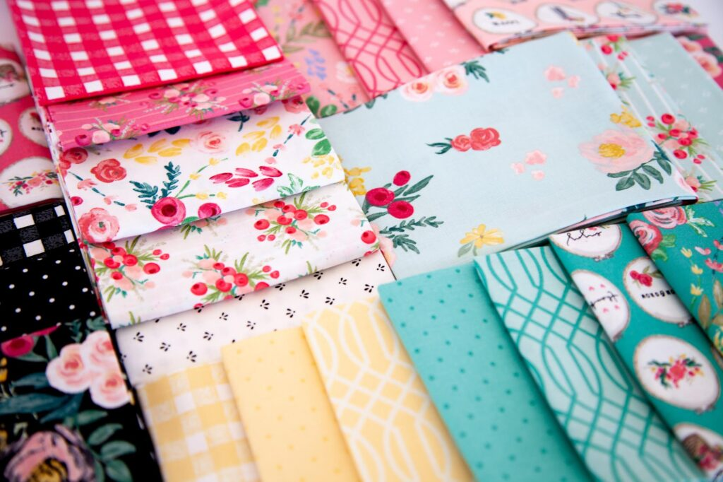 Welcome Wall Banner DIY featured by Top US sewing blog Ameroonie Designs: image of Flower Market Fabric by Riley Blake Designs
