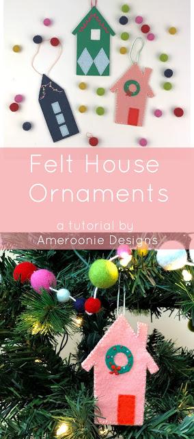 felt house ornament tutorial