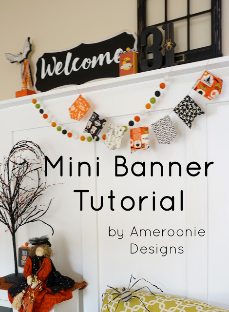 Mini Banner sewing tutorial