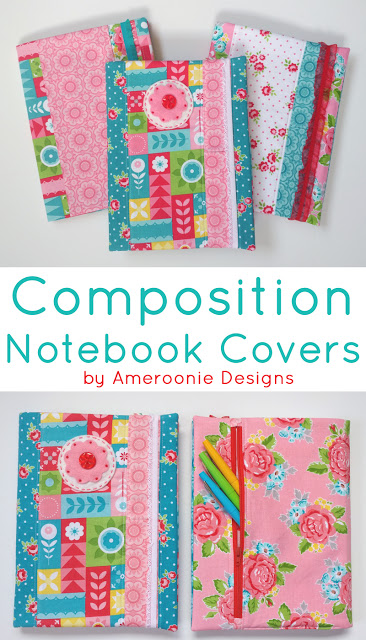 fabric composition notebook covers