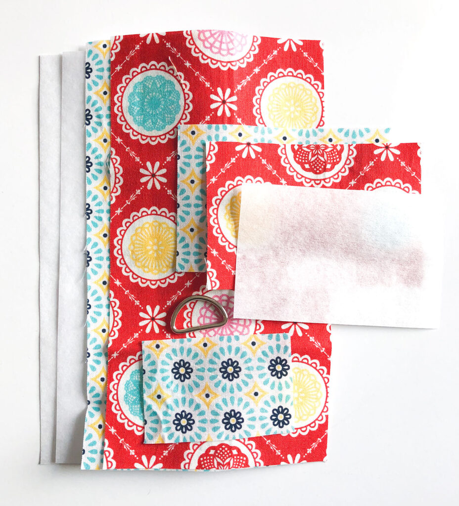 Mini Wallet Tutorial by Top US sewing blog Ameroonie Designs. Image of: supplies needed to make mini wallets.