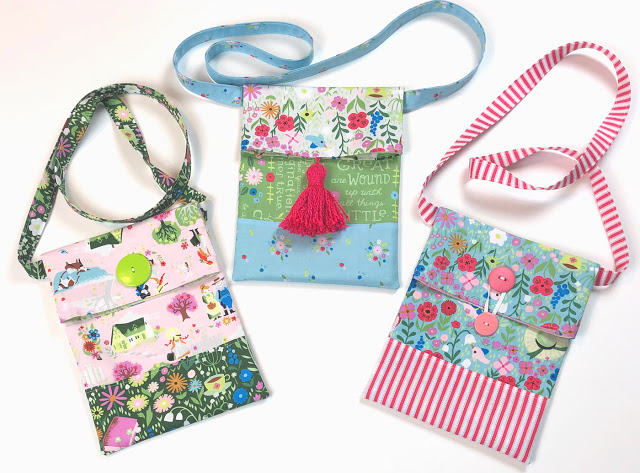 How to Sew a Small Sling Bag for Kids, a tutorial featured by top US sewing blog, Ameroonie Designs: sling tote for kids