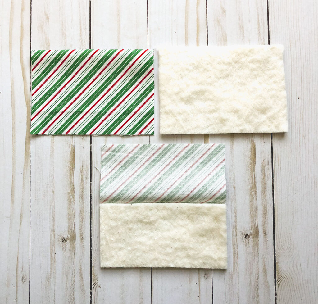 How to Sew a Hot Pad with Pockets by top US sewing blog Ameroonie Designs. Image of: preparing pockets for hot pad.