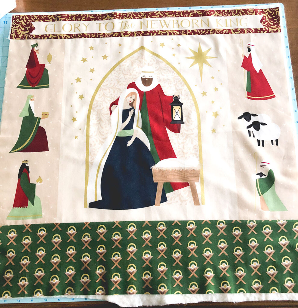 Advent Mini Quilt by top US sewing blog Ameroonie Designs. Image of: fabric preparation for creating mini quilt.