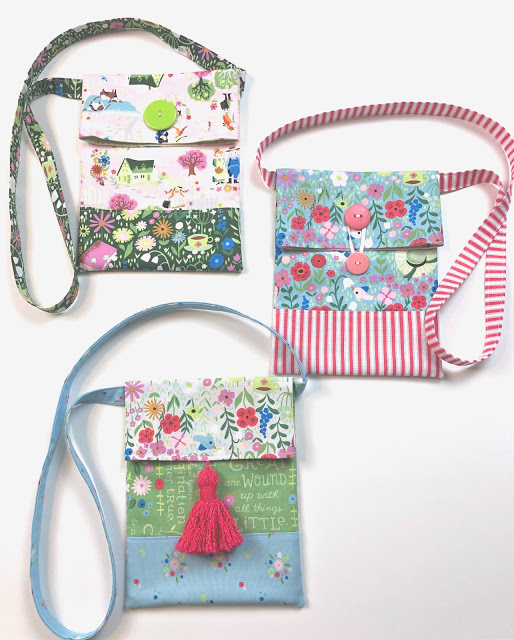 How to Sew a Small Sling Bag for Kids, a tutorial featured by top US sewing blog, Ameroonie Designs:  Simple Crossbody bag or sling tote tutorial