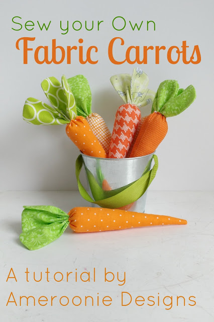The Ultimate Fabric Carrot Tutorial featured by top US craft blog, Ameroonie Designs